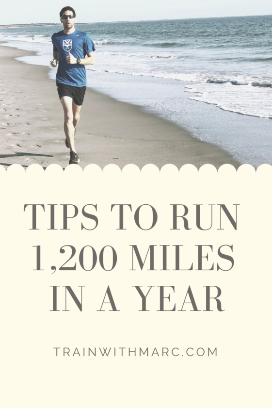 tips to run 1,200 miles in a year