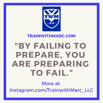 Fail to Prepare? Prepare to Fail.