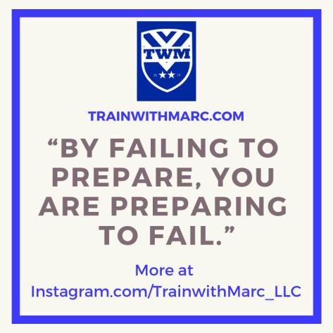 Fail to Prepare? Prepare to Fail.