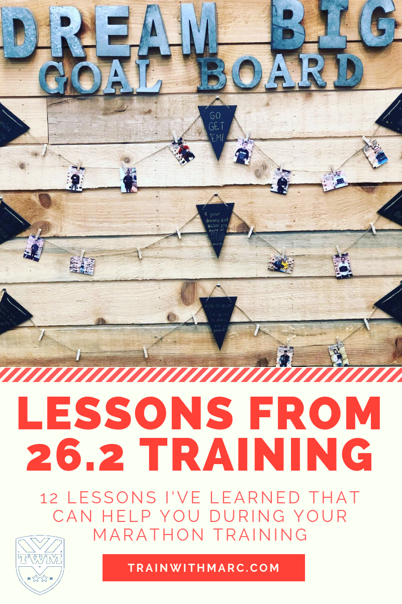 Lessons learned from 26.2 training