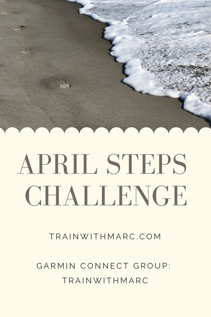 Join TrainwithMarc on Garmin to track your April steps