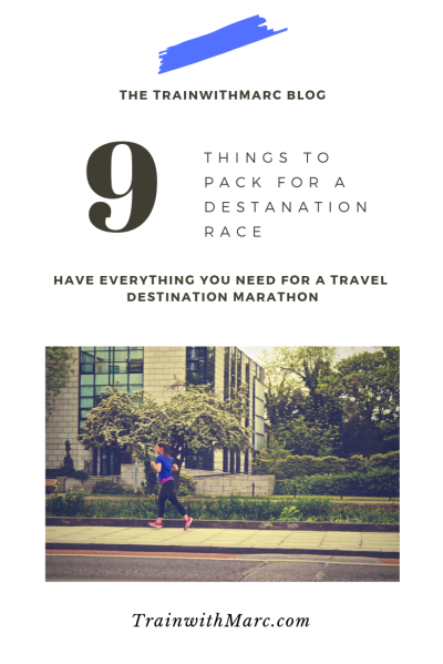 Having everything you need for a destination marathon