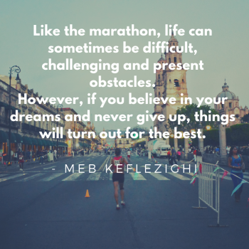Marathons bring out the best in people