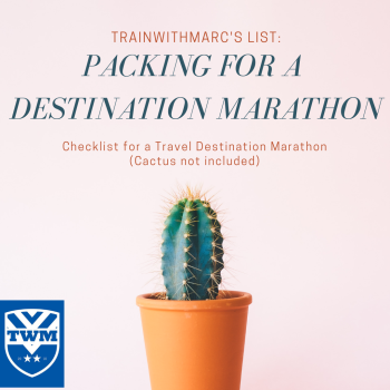 A comprehensive checklist to pack for a destination marathon