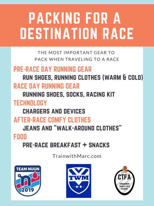 The 9 items you need to bring with you to a destination race