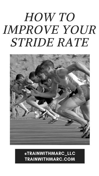 Improving our stride rate is beneficial for distance runners