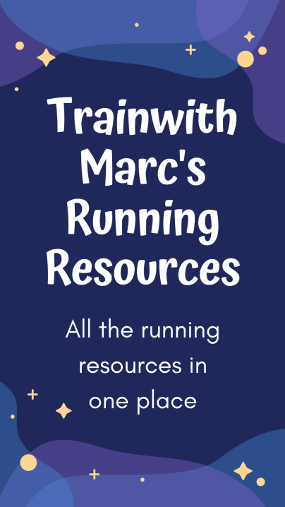 TrainwithMarc's Running Resources for YOU