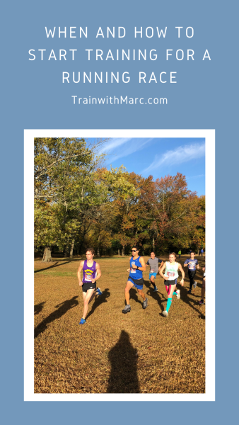 When and how to start training for a running race