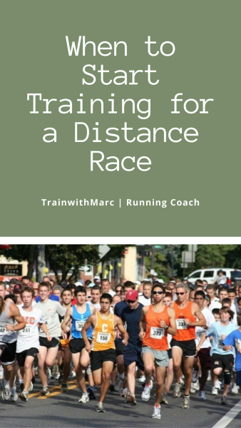 The length of training you need for each race distance