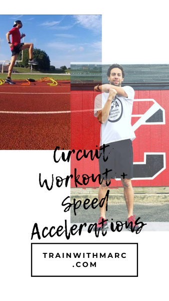Runners use circuits to improve their strength and strides to improve their speed. This workout combines both.