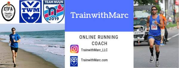 TrainwithMarc is an online running coach who provides running and strength routines to distance runners