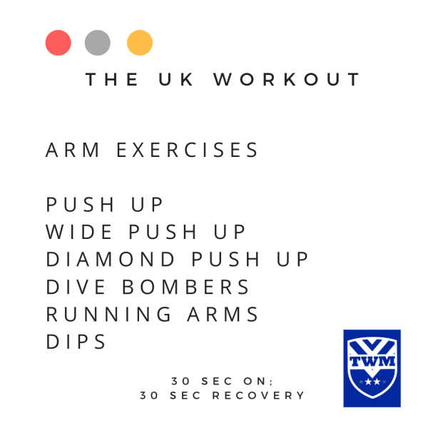 UK workout arm exercises
