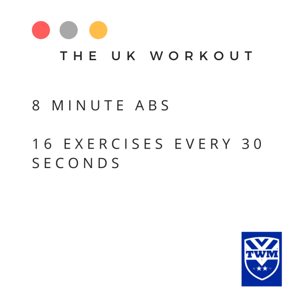 16 ab exercises during the UK workout
