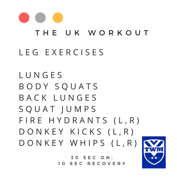 7 leg exercises to do with the UK workout