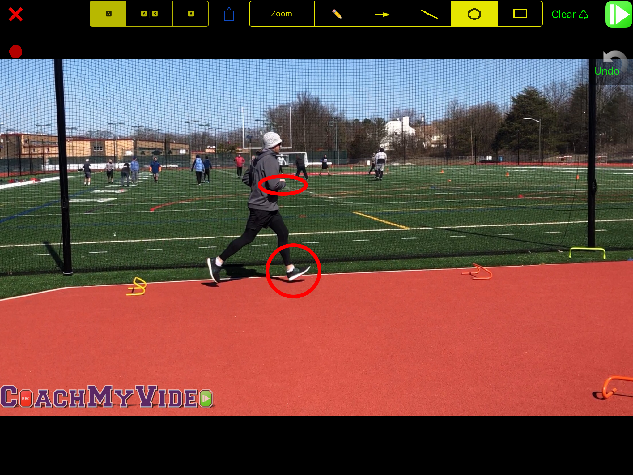 Brian & Coach Marc work on improving running stride by eliminating heel striking