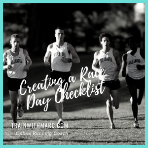 Race day checklists help calm your mind and let you run free