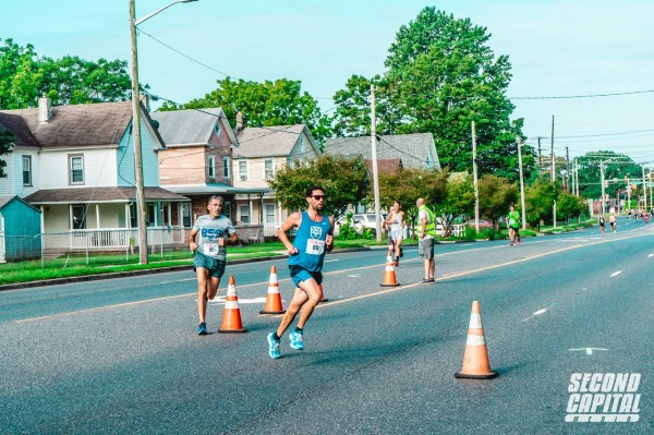 Marc racing the Second Capital 5k in 2020
