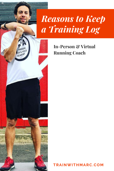 A training log helps you predict what kind of training you need to do, while also helping you see what you've already done.